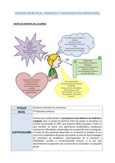 """Unidad Didáctica """"Conozco y Controlo mis Emociones"""" by Andrea Cano via slideshare"""