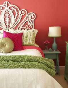 CreateGirl: Affordable Peacock Rattan Headboards #bed #bedroom