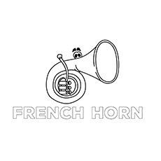 The French-Horn1 coloring images