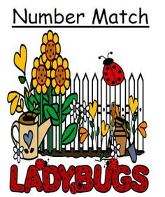 Classroom Freebies Too: Fern Smith's FREE ~ Primary Center Game LADYBUGS Matching Dots to Numbers 0 - 10