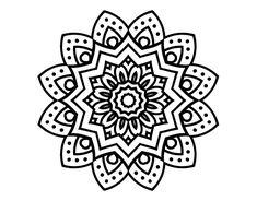 Dibujo de Mandala flor natural para colorear, imprimir o descargar. Colorea online con un juego para colorear de dibujos de Mandalas y podrás compartir y crear tu propia galería de dibujos online .