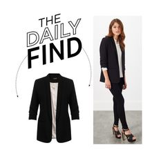"""""""The Daily Find: John Lewis Tux Jacket"""" by polyvore-editorial ❤ liked on Polyvore featuring Miss Selfridge and DailyFind"""