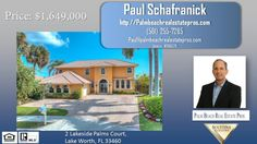 2 Lakeside Palms Court Lake Worth Florida-Waterfront  https://gp1pro.com/USA/FL/Palm_Beach/Lake_Worth/Lakeside_Palms/2_Lakeside_Palms_Court.html  Your waterfront paradise is waiting! No detail spared in this one of a kind five bedroom 4 and half bath intracoastal pool home.The home is situated on a very wide part of the waterway and is extremely private and secluded from neighbors . The home as been freshly painted inside and out. The first floor features tile throughout, an open floor plan…