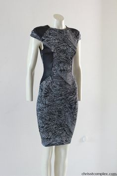 Body Con Pencil Dress Knee Length Printed Slimming by chrisst, $189.00