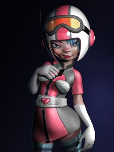Amazing 3D Character Designs for your inspiration: 3D Pippa-by-Lee-Davies