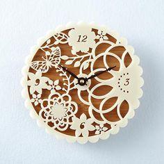 Naturaleza de ivy flor número reloj pared CNC corte archivo Vector arte Laser corte - DXF - línea cutable dibujo CAD - láser corte patrón .cdr .eps .svg