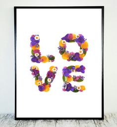 Flower Print Love Print Quote Flower Quote Love by CristylClear