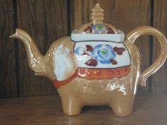 Luster ware Elephant Teapot