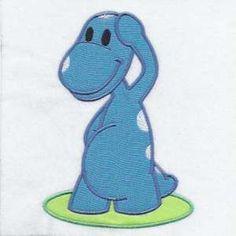 Free Embroidery Design: Dinosaur