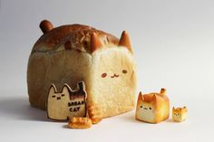 Cute Snacks, Cute Desserts, Cat Bread, Food Png, Cute Baking, Kawaii Dessert, Food Art For Kids, Cute Donuts, Unicorn Foods