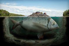 Image: Erik Johansson: 'Fishy island' (© Erik Johansson)
