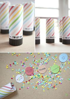 diy confetti invitations