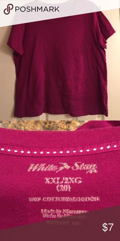 White Stag top Beautiful rich Magenta color ❤️❤️. Soft and comfy White Stag Tops Tees - Short Sleeve