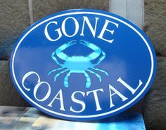 L21005 - Sea Coast Vacation Home Name Sign with Blue Crab                                                                                                                                                      More