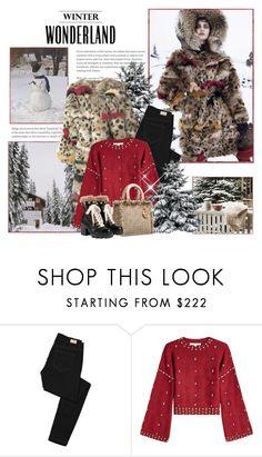 """Winter WonderLand 2018 / Warm Winter Coat"" by mrswomen ❤ liked on Polyvore featuring Paige Denim, Jonathan Simkhai, Gucci and statementcoats"