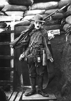 """""""This world is a comedy to those who think, a tragedy to those who feel."""" — Horace Walpole (1717-1797) Letter to Sir Horace Mann (December 31, 1769) — Image: [Released three weeks before the end of World War I] Charlie Chaplin in Shoulder Arms (1918) — #tragedy #comedy #HoraceWalpole #quoteoftheday"""