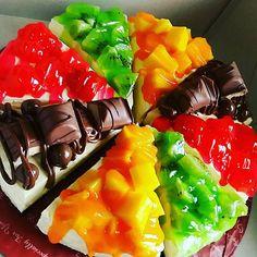 Resepi Senang: Recepi Pizza Fruit Cheesecake
