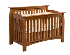 Amish Linbergh Convertible Crib Furniturenursery