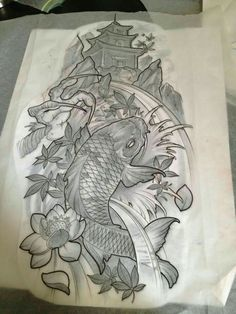 Tattoos By Ben added a new photo. Koi Tattoo Design, Tattoo Sketches, Tattoo Drawings, Body Art Tattoos, Circle Tattoos, Japanese Tattoo Art, Japanese Tattoo Designs, Bild Tattoos, Neue Tattoos