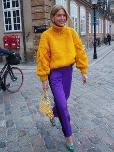 Lila Outfits, Purple Outfits, Colourful Outfits, Mode Outfits, Casual Outfits, Fashionable Outfits, Look Fashion, Winter Fashion, Girl Fashion