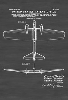 Alexander graham bell flying machine patent airplane blueprint a patent print poster of a boeing yb 9 aircraft the patent was issued malvernweather Gallery