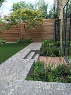 Small Courtyard Gardens, Back Gardens, Terrace Garden, Garden Yard Ideas, Garden Projects, Intranet Portal, Garden Levels, Small Garden Design, Contemporary Garden Design