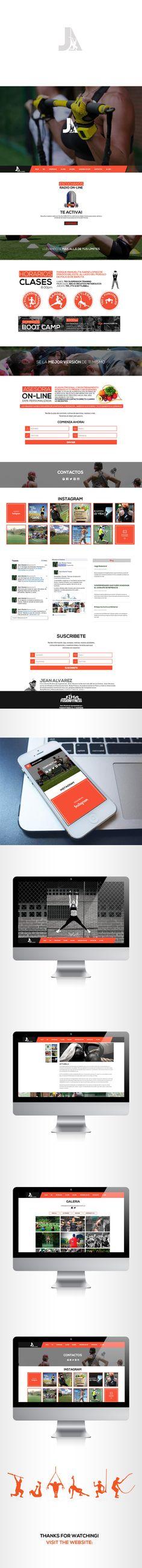 JA Website on Behance