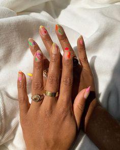 Hair And Nails, My Nails, November Nails, Nagellack Design, Funky Nails, Funky Nail Art, Trendy Nail Art, Crazy Nail Art, Colorful Nail Art