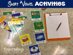 Lots of Fun Short Vowel Activities for students to practice this skill