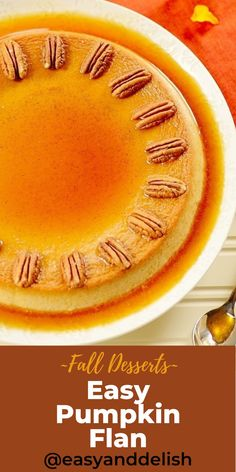 An easy pumpkin dessert to make for the fall season and holidays. This flan is creamy, smooth, and so delicious! Get this dessert recipe now! #pumpkinflan #flanrecipe #glutenfreedessert #thanksgivingrecipe #falldessert #baking #pinterestrecipe #foodrecipes Pumpkin Flan, Baked Pumpkin, Pumpkin Dessert, Healthy Thanksgiving Recipes, Savory Pumpkin Recipes, Holiday Recipes, Berry Smoothie Recipe, Fruit Smoothie Recipes, Fall Desserts