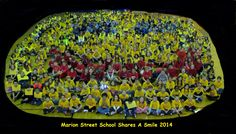 """Marion Street School Smile  Dear Mr. Bernstein, Attached please find the group smile picture from Marion Street School. We are very proud to take part in the """"Share A Smile"""" campaign. Thank you. Mrs. Wierzbicki Smile Pictures, Campaign, Pure Products, Group, Street, School, Walkway"""