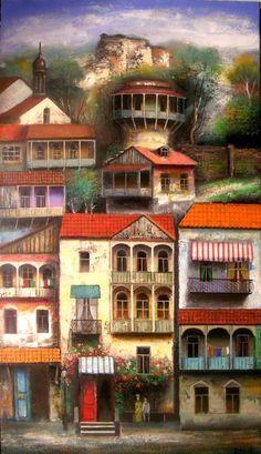 As pinturas de David Martiashvili - artista nascido na Georgia - são baseadas em como as crianças enxergam o mundo e, também, na literatura infantil. David é artista de terceira geração de sua família. Confira seu delicado e talentoso trabalho.