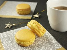 Yuzu & Ginger Macarons recipe  -     This flavor combination was inspired by my recent trip to Japan, where I was able to indulge in my love for yuzu – its tart, grapefruit-like flavor with hints of mandarin is intriguing and unique.