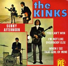The Kinks - Sunny Afternoon Hey, when did they begin to play left handed? Rare inverted photo.