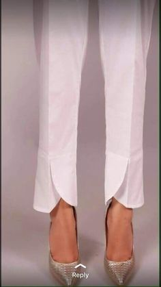 Style of plazo pant Kurti Sleeves Design, Sleeves Designs For Dresses, Dress Neck Designs, Salwar Designs, Kurti Neck Designs, Salwar Pants, Gharara Pants, Tulip Pants, Creation Couture