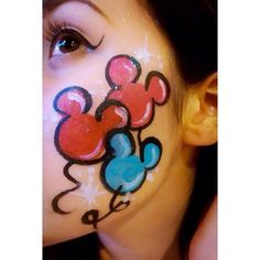 disneyland face paint