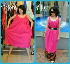 This girl refashions awkward thrift store clothes on her blog (ReFashionista) and they look great!