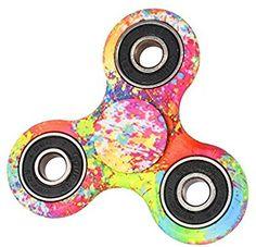 spinners squad fidget toys neon splatter paint fidget spinner pinterest neon och leksaker. Black Bedroom Furniture Sets. Home Design Ideas
