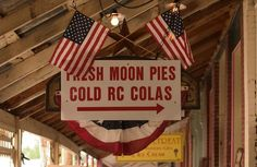 Moon pies and RC Cola - nothing more southern or part of America