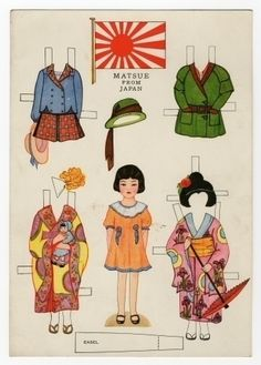 78.6432: Little Americans from Many Lands-Matsue from Japan   paper doll   Paper Dolls   Dolls   Online Collections   The Strong