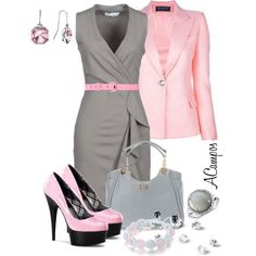 Gray and pink ( don't care to much for the black in the heel but) love this color combo