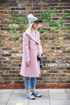 Mild temps in London are making for major springtime vibes as show-goers hit the streets in bare legs, light jackets and refreshing brights