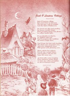 Jack O' Lantern Village poem