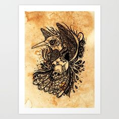 Hummingbird Art Print by ZaryaKiqo