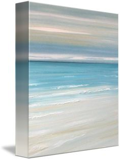 """""""beachview"""" by Francine Bradette: beach ocean coastal seascape blue painting // Buy prints, posters, canvas and framed wall art directly from thousands of independent working artists at Imagekind.com."""