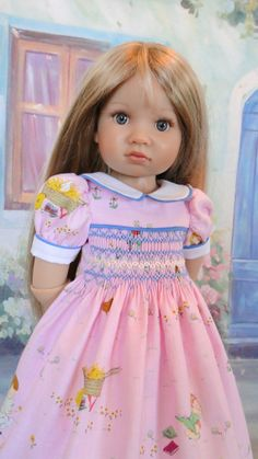 Smocked dress for Kidz N Cats doll