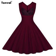 Elegant Rockabilly Floral Swing Plus Size Dresses