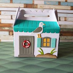 I created my first Scalloped Treat Box, using it together with the Beach House Add-On die set. Everything I used on this Treat Box is from L. Treat Holder, Treat Box, Picnic Box, Rena, Gable Boxes, Raffle Baskets, Paper Crafts, Diy Crafts, Hoppy Easter