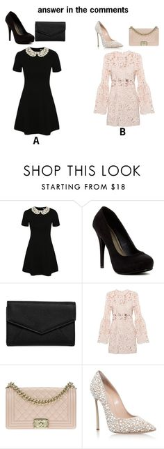 """tell me in the comments"" by ariari456 on Polyvore featuring George, Michael Antonio, LULUS, Chanel and Casadei"