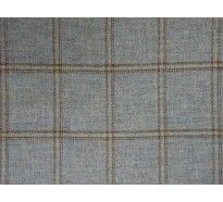 Dove grey 100% wool tartan check curtain upholstery fabric
